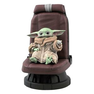 STAR WARS THE MANDALORIAN ESTATUA PREMIER COLLECTION 1/2 THE CHILD IN CHAIR