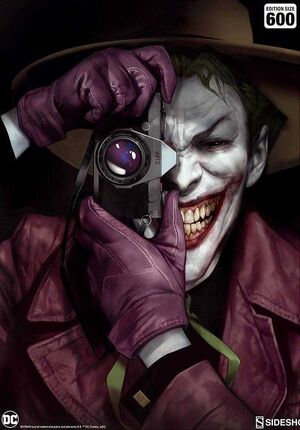 LITOGRAFIA DC COMICS THE KILLING JOKER 46 X 61CM - ENMARCADO