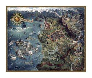 THE WITCHER 3 PUZZLE WILD HUNT NORTHERN REALMS MAP
