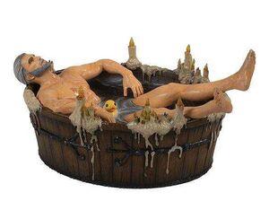 THE WITCHER 3 WILD HUNT FIGURA 9 CM GERALT IN THE BATH