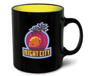 CYBERPUNK 2077 TAZA EMBLEMA NIGHT CITY
