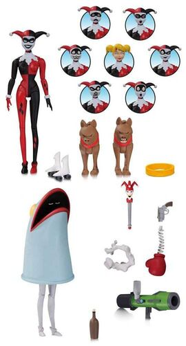 BATMAN THE ANIMATED SERIES PACK + FIG 15 CM HARLEY QUINN EXPRESIONES