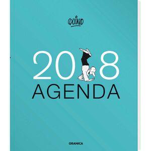 AGENDA QUINO ENCUADERNADA AZUL 2018