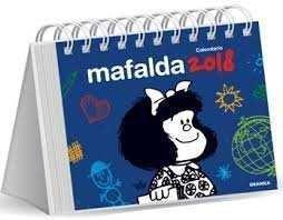 CALENDARIO 2018 MAFALDA ESCRITORIO AZUL