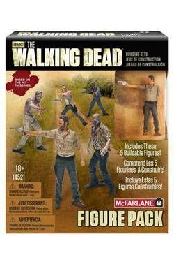THE WALKING DEAD FIGURAS 5 CM FIGURE PACK 1 KIT DE CONSTRUCCION