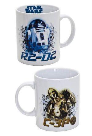 STAR WARS TAZA R2-D2 Y C3PO