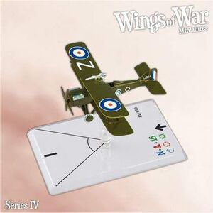 WINGS OF WAR MINIATURES SERIE 4 - R.A.F. SE5A (BISHOP)
