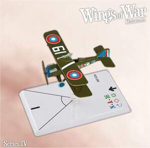 WINGS OF WAR MINIATURES SERIE 4 - R.A.F. SE5A (BOUDWIN)