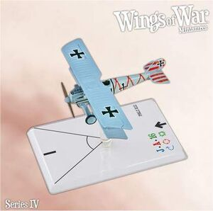 WINGS OF WAR MINIATURES SERIE 4 - PFALZ D.III (HOHN)