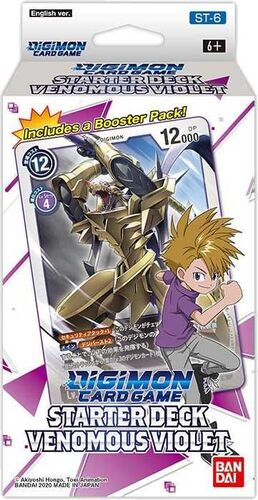 DIGIMON CARD GAME STARTER DECK 6 VENOMOUS VIOLET