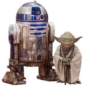 STAR WARS EPISODE V PACK 2 FIG ARTFX+ YODA Y R2-D2 DAGOBAH VERISON 10CM