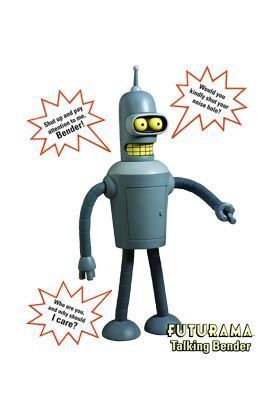 FUTURAMA BENDER CON SONIDO FIG 20 CM