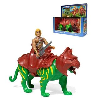 MASTERS OF THE UNIVERSE PACK 2 FIGURAS REACTION 10CM HE-MAN & BATTLECAT