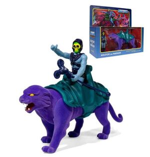 MASTERS OF THE UNIVERSE PACK 2 FIGURAS REACTION 10CM SKELETOR & PANTHOR