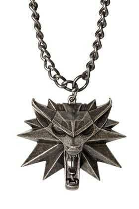 THE WITCHER 3 COLGANTE METAL EMBLEMA LOBO MEDALLON