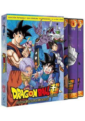 DRAGON BALL SUPER BOX 1 DVD LA SAGA DE LA BATALLA DE LOS DIOSES