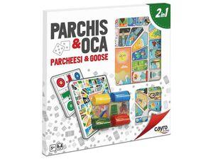 TABLERO PARCHÍS - OCA MADERA CON ACC. 40X40 CM.