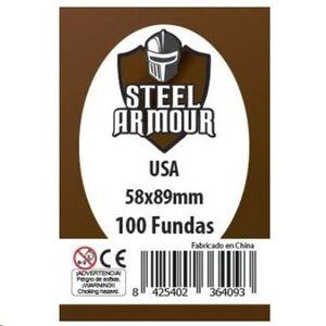 FUNDAS STEEL ARMOUR USA 58X89 MM (100)