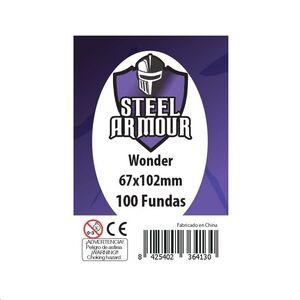 FUNDAS STEEL ARMOUR WONDER 67X102 MM (100)