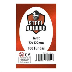FUNDAS STEEL ARMOUR TAROT 72X122 MM (100)