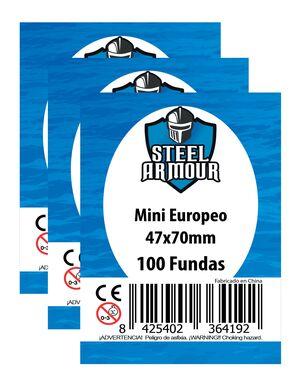 FUNDAS STEEL ARMOUR MINI EUROPEO 47X70 MM (100)