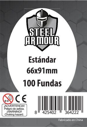 FUNDAS STEEL ARMOUR ESTANDAR 66X91 MM (100)