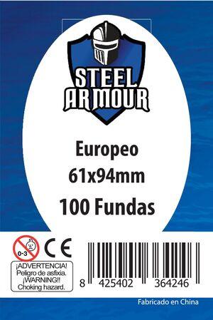 FUNDAS STEEL ARMOUR EUROPEO 61X94 MM (100)