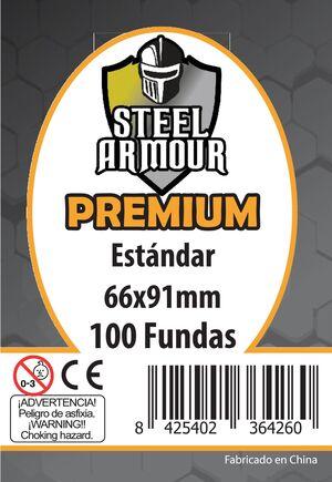 FUNDAS STEEL ARMOUR PREMIUM ESTANDAR 66 X 91 MM  (100)