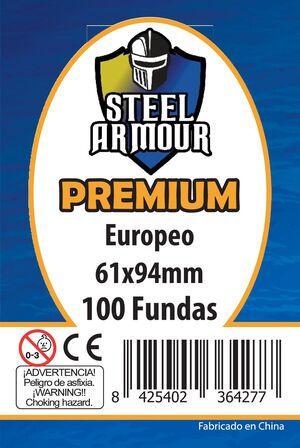 FUNDAS STEEL ARMOUR EURO PREMIUM 61X94 MM (100)