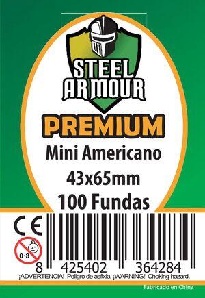 FUNDAS STEEL ARMOUR MINI AMERICANO PREMIUM 43X65 MM (100)