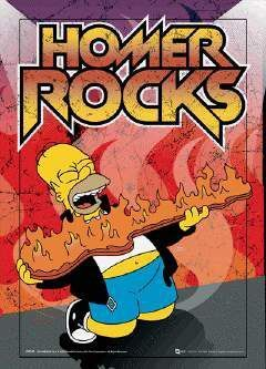 POSTER 3D FORMATO A3 SIMPSON HOMER ROCKS