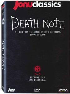 DVD DEATH NOTE - LAS PELICULAS (3 DVD) - JONU CLASSICS