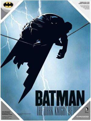 BATMAN MILLER POSTER DE VIDRIO THE DARK KNIGHT RETURNS DC 30X40 CM
