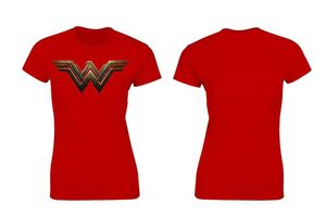BATMAN VS SUPERMAN CAMISETA ROJA CHICA LOGO WONDER WOMAN DC T-M