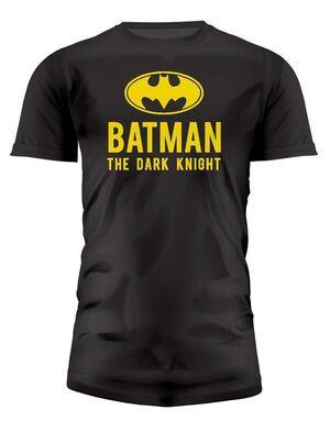 BATMAN THE DARK KNIGHT CAMISETA NEGRA CHICO LOGO XXL