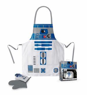 STAR WARS PACK TRANSPARENTE DELANTAL Y MANOPLA R2-D2