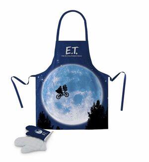 E.T. EL EXTRATERRESTRE DELANTAL Y MANOPLA PACK TRANSPARENTE E.T.