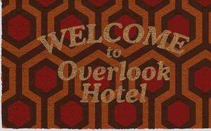 EL RESPLANDOR FELPUDO WELCOME OVERLOOK HOTEL