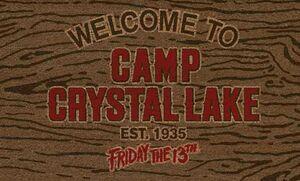 VIERNES 13 FELPUDO WELCOME CAMP CRYSTAL LAKE
