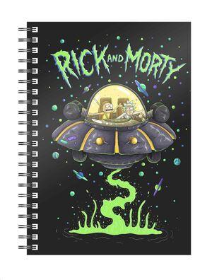 RICK Y MORTY LIBRETA ESPIRAL SPACE SHIP
