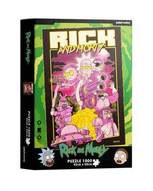 RICK Y MORTY PUZZLE 1000 PIEZAS RETRO