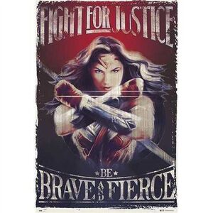 POSTER WONDER WOMAN FIGHT FOR JUSTICE 61 X 91 CM