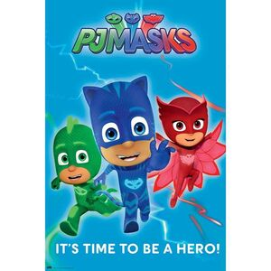 POSTER PJ MASKS 2 IT´S TIME TO BE A HERO 61 X 91 CM