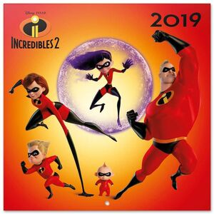 CALENDARIO 2019 THE INCREDIBLES 2 DISNEY PIXAR 30X30 CM