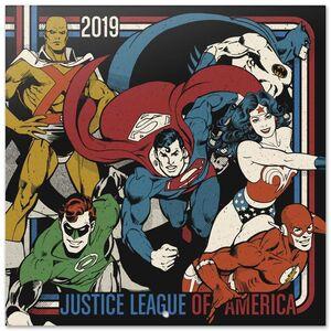 CALENDARIO 2019 JUSTICE LEAGUE OF AMERICA DC 30X30 CM