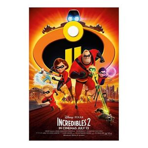POSTER LOS INCREIBLES 2 ONE SHEET 61 X 91 CM