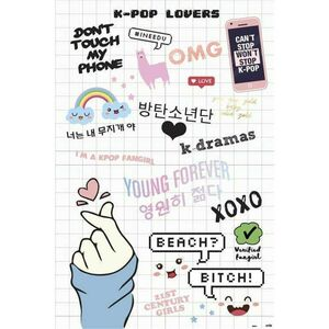 POSTER K-POP LOVERS 61 X 91 CM