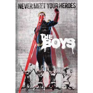 POSTER THE BOYS NEVER MEET YOUR HEROES 61 X 91 CM