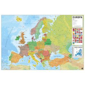 POSTER MAPA EUROPA ES FISICO POLITICO 61 X 91,5 CM