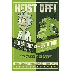 POSTER RICK Y MORTY SEASON 4 HEIST OFF 61 X 91 CM